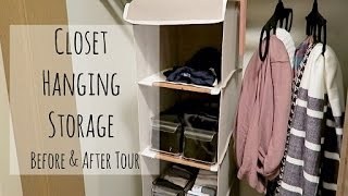Closet Hanging Storage | Before & After Tour