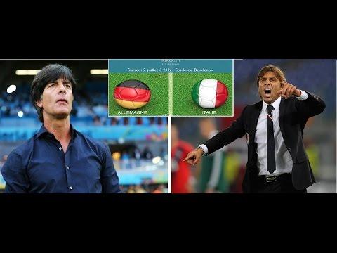 Euro 2016 ALLEMAGNE vs ITALIE = Le Choc des TITANS= Joachim Löw