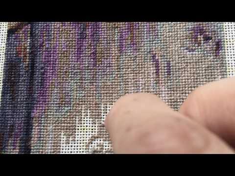 Вышивка в технике гобелен   Мой метод вышивки !