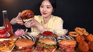 SUB)육즙가득 수제버거 먹방! 아보카도버거 트러플 베…