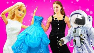 Игры одевалки для девочек - Кукла Барби выбирает образ! - Сборник видео для детей с игрушками
