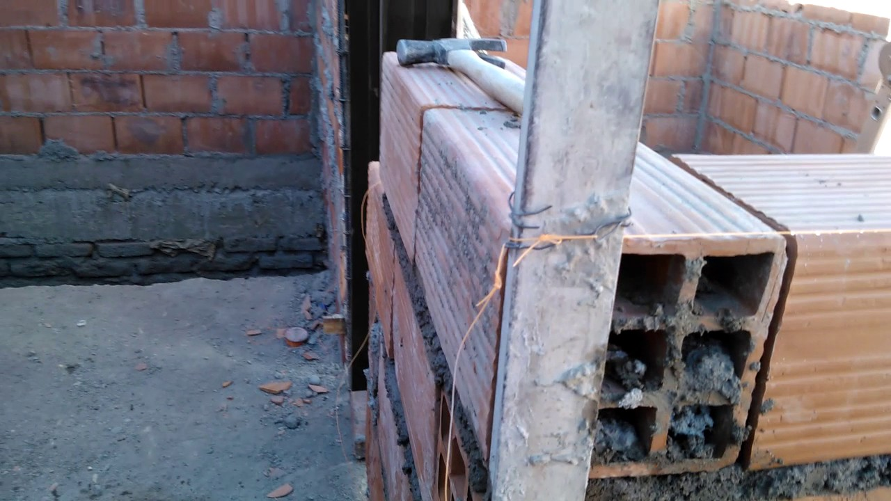 Hacer muros internos trabados sin columnas y de ladrillos Construir una pileta de ladrillos