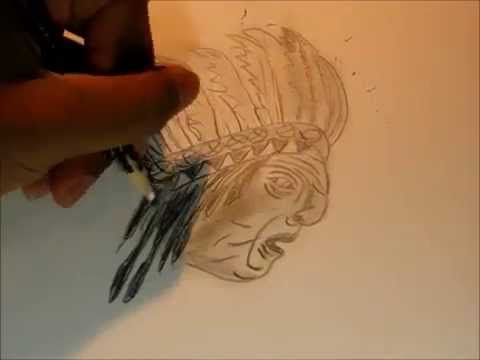 American Indian Chief drawing