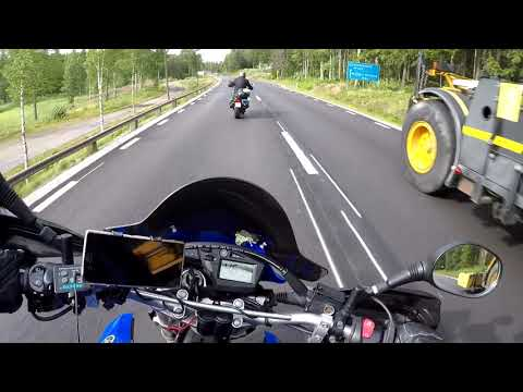 Motorcycle roadtrip, Sweden - Norway (Stockholm to Kongsvinger) with music!