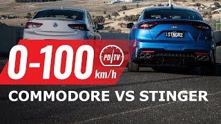 2018 Holden Commodore VXR vs Kia Stinger 330i: 0-100km/h & engine sound