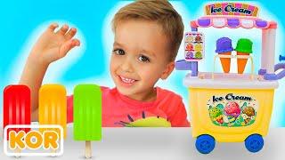 블라드와 니키타 척 놀이 아이스크림 판매