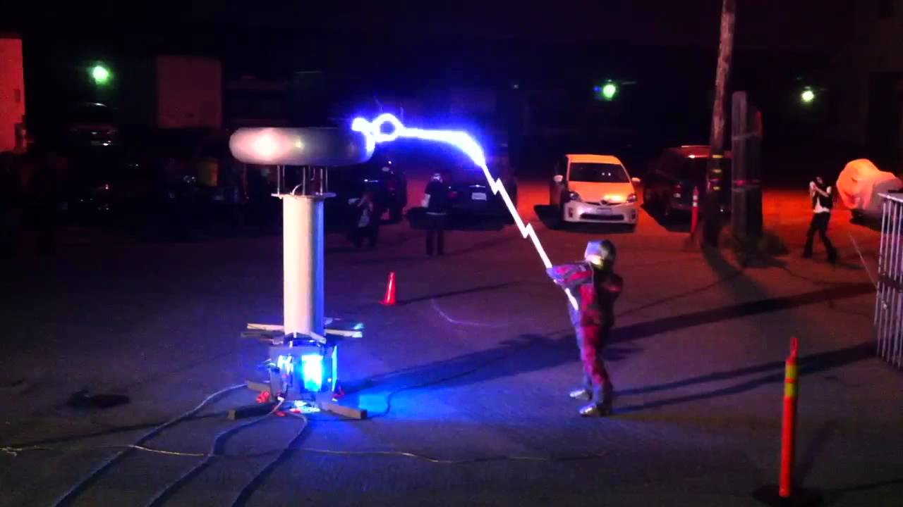 Double-Sword Fighting Shocked by Artificial Lightning ...