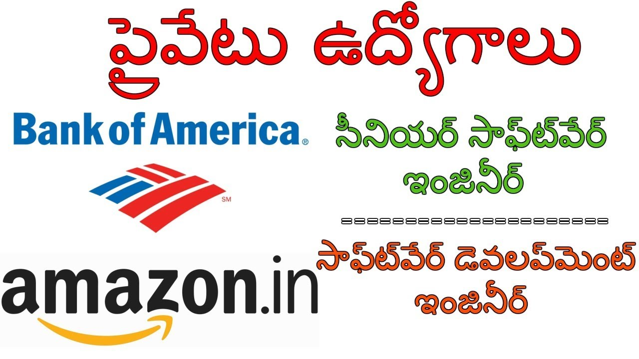Private Jobs:Bank of America & Amazon Fresher and ...