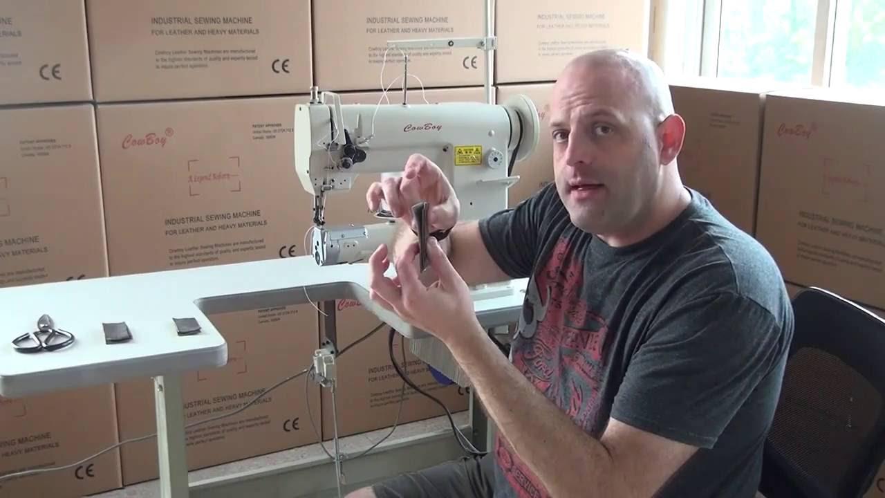 Máquina coser para cuero de brazo cilíndrico triple