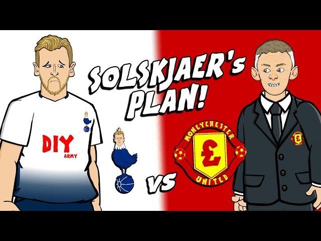⚪SOLSKJAER's PLAN FOR KANE!🔴 (Spurs vs Man Utd 0-1Parody Preview Rashford De Gea)