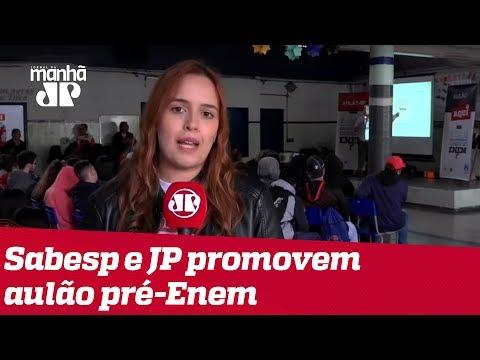 Sabesp e Jovem Pan promovem mais um aulão de reforço para o Enem