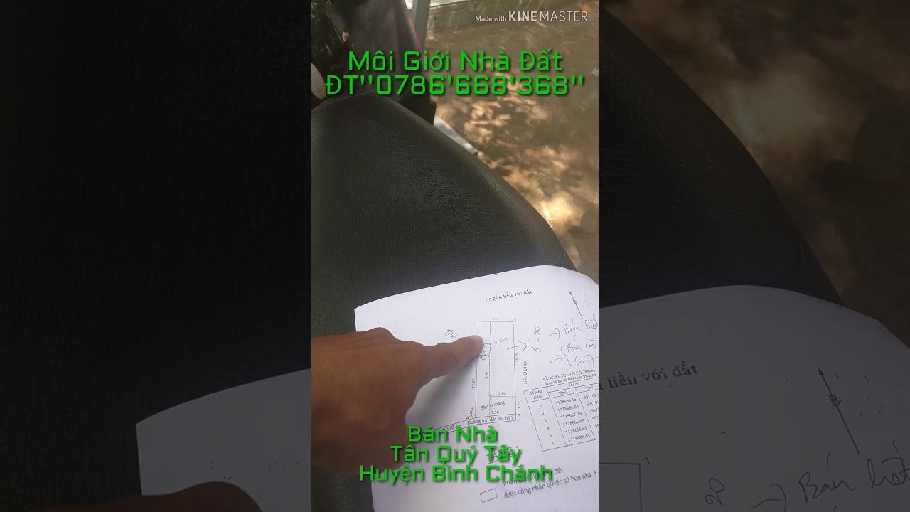 'Đã Bán' nhà Tân Quý Tây Huyện Bình Chánh I Giá 2t4 còn thương lượng ĐT''0786'668'368''
