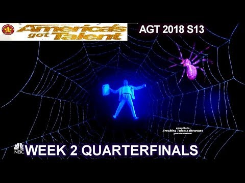 Front Pictures Multimedia ACT FANTASTIC VISUALS!! QUARTERFINALS 2 America's Got Talent 2018 AGT