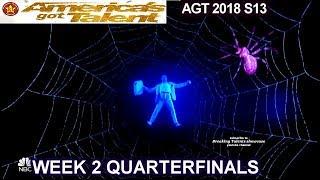 Front Pictures Multimedia ACT FANTASTIC VISUALS!! QUARTERFINALS 2 America's Got Talent 2018 AGT