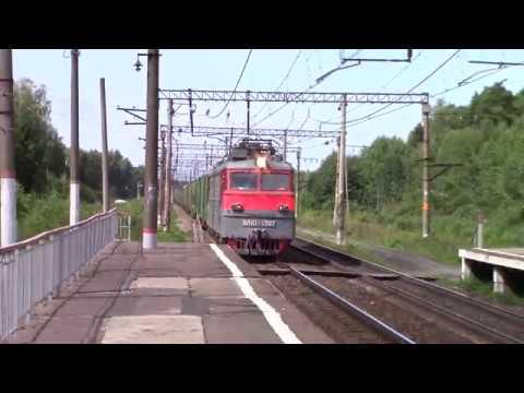 ВЛ10-1797 с грузовым и ЭД4М-0264, платформа 95 км