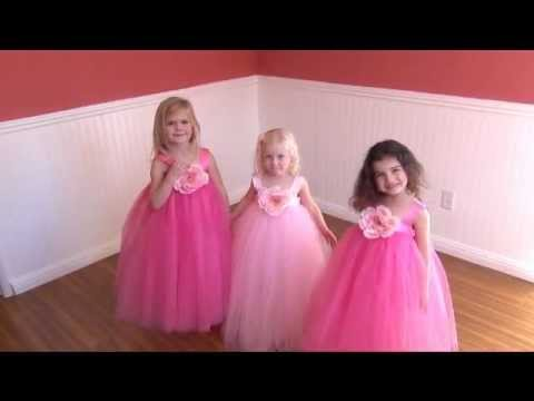 Tutu Skirt & Flower Girl Dress for Little Girl's Dress Up Costume ...
