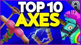 Top 10 Axes in Fortnite! Best Harvesting Tools EVER Released!!