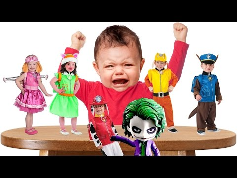 Thumbnail: Bad Baby Crying and learn Colors - Colorful Paw Patrol Costume - Joker Finger Family Collection