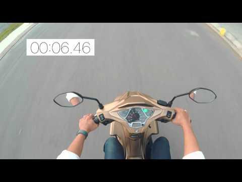 Thử khả năng tăng tốc của Honda Air Blade 125cc 2015