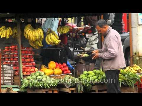 Local fruit market of Panchgani