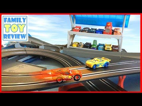 Cars 3 Toys Disney Pixar Cars 3 Carrera Slot Racing Trackset Unboxing On Florida Ultimate Speedway