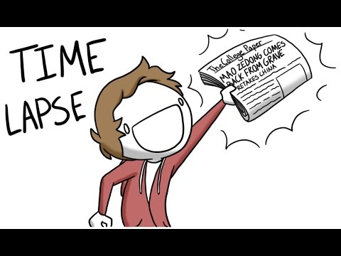 Boy Makes Comic for Newspaper [Time Lapse]