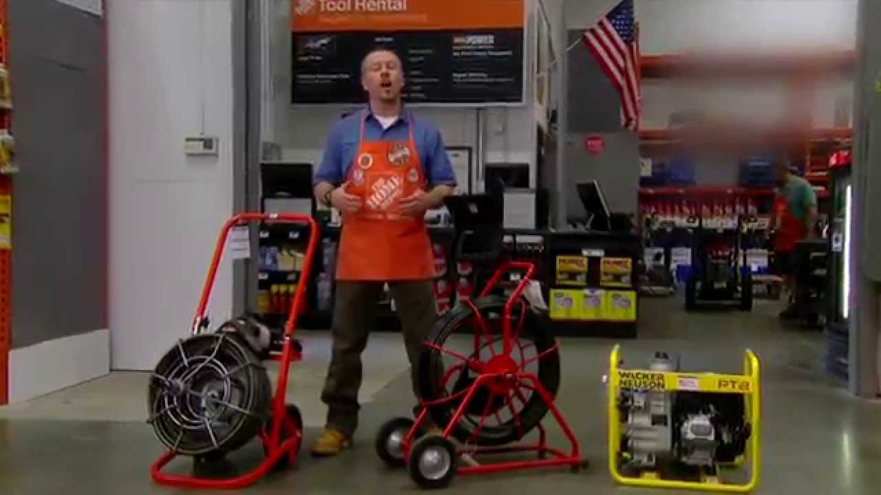 Tool Rental Plumbing Tools The Home Depot Youtube