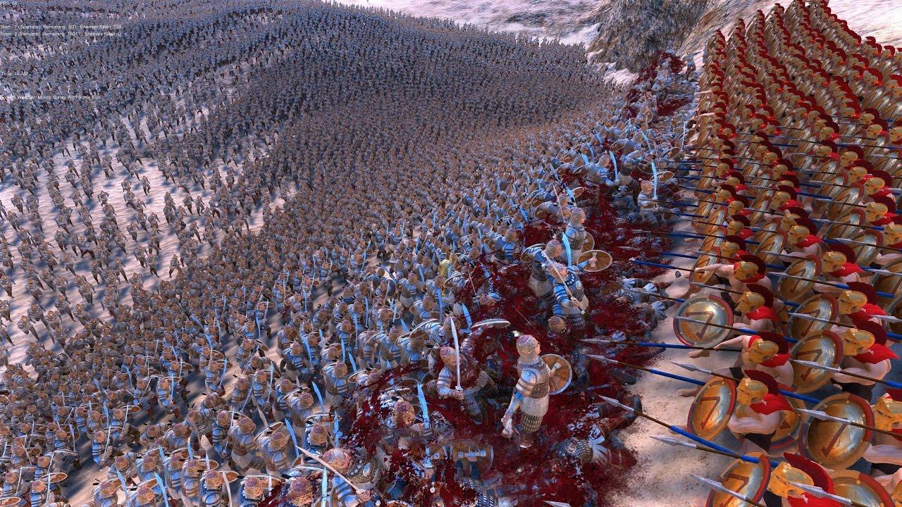 300 SPARTANS vs 20.000 PERSIANS - Ultimate Epic Battle Simulator ...