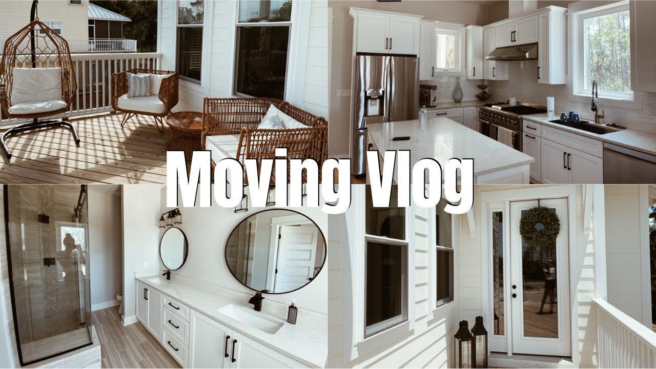 MOVING VLOG: beach house tour, unpacking & more!