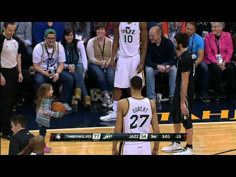 Ricky Rubio's Cool Assist With Fan
