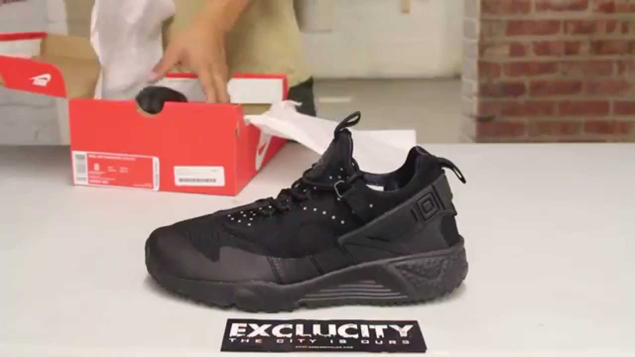 1283ba1ba5c6e6 Nike Air Huarache Utility - Black - Black - Unboxing Video at Exclucity