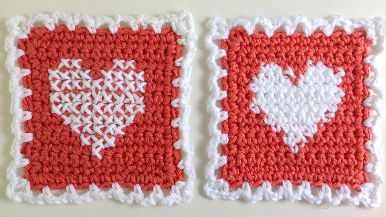Instarsia Crochet Vs Cross Stitch Crochet  Left Handed Free Cross Stitch  Pattern By Maggie Weldon  Youtube
