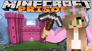 Minecraft Prison : BUILDING MY OWN PINK CASTLE!