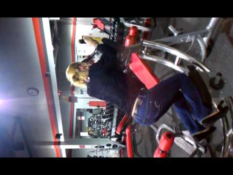 Blondes working out.