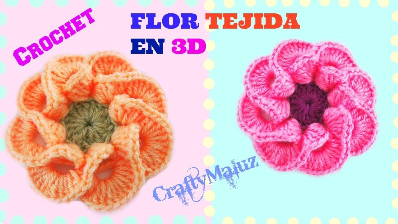Tutorial flor tejida en 3d paso a paso crochet como - Como hacer una barbacoa paso a paso ...