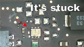 Macbook not charging due to welded voltage regulator IC!