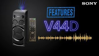 sony MHC-V44D Sound and all Features Test 4K Available
