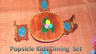 Ice Stick Craft Kids Dining Table