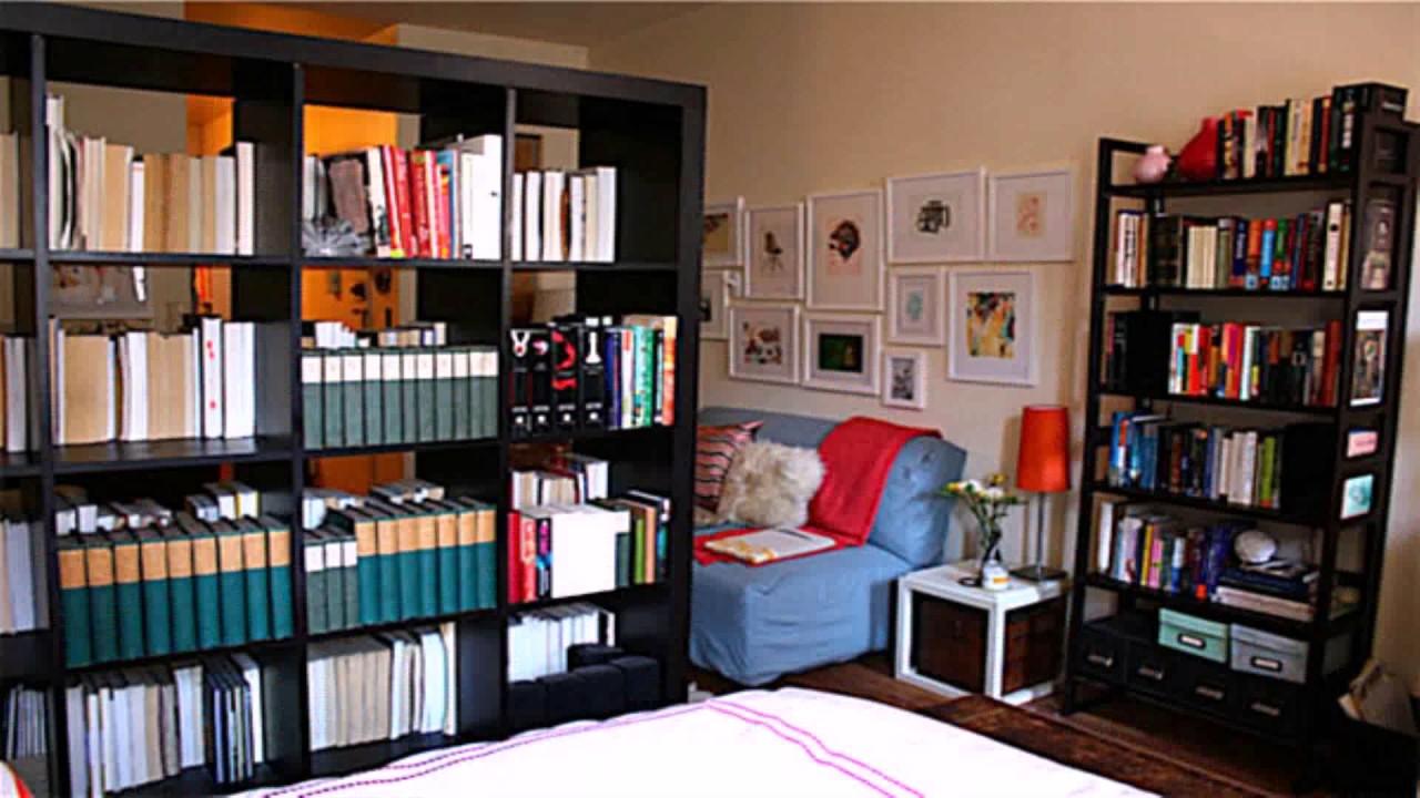 Diy Room Divider Bookshelf - YouTube