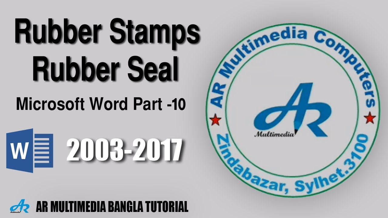 How to create Rubber Stamps in Microsoft Word 2010|MS Word ...