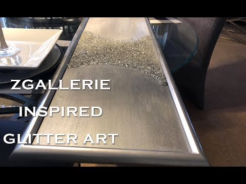 Zgallerie Inspired Glitter Art | Crush Glass Art | $1 Goodwill Picture Frame