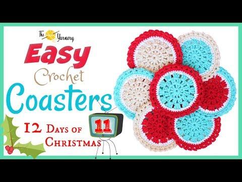 Easy Crochet Coaster Pattern – Crochet Tutorial for Beginners