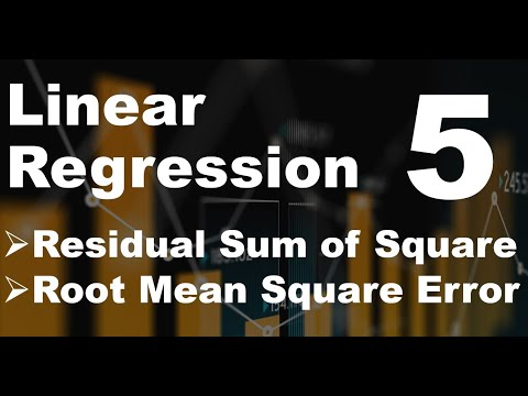 Python for Machine Learning - Predictions with Simple Linear Regression 5 - Residual sum of squares