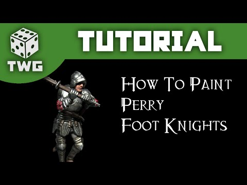 Perry Miniatures Tutorial: How to Paint Foot Knights