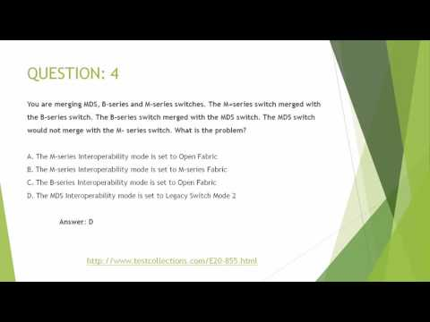 E20-855 Most up to date exam questions