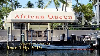 🛥Cruising in the African Queen - Florida - Key Largo - Boat Ride 🌴 (3 times actual speed)