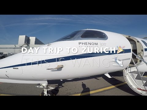 Day Trip to Zurich - first time flying with private jet 🛩 #vlog