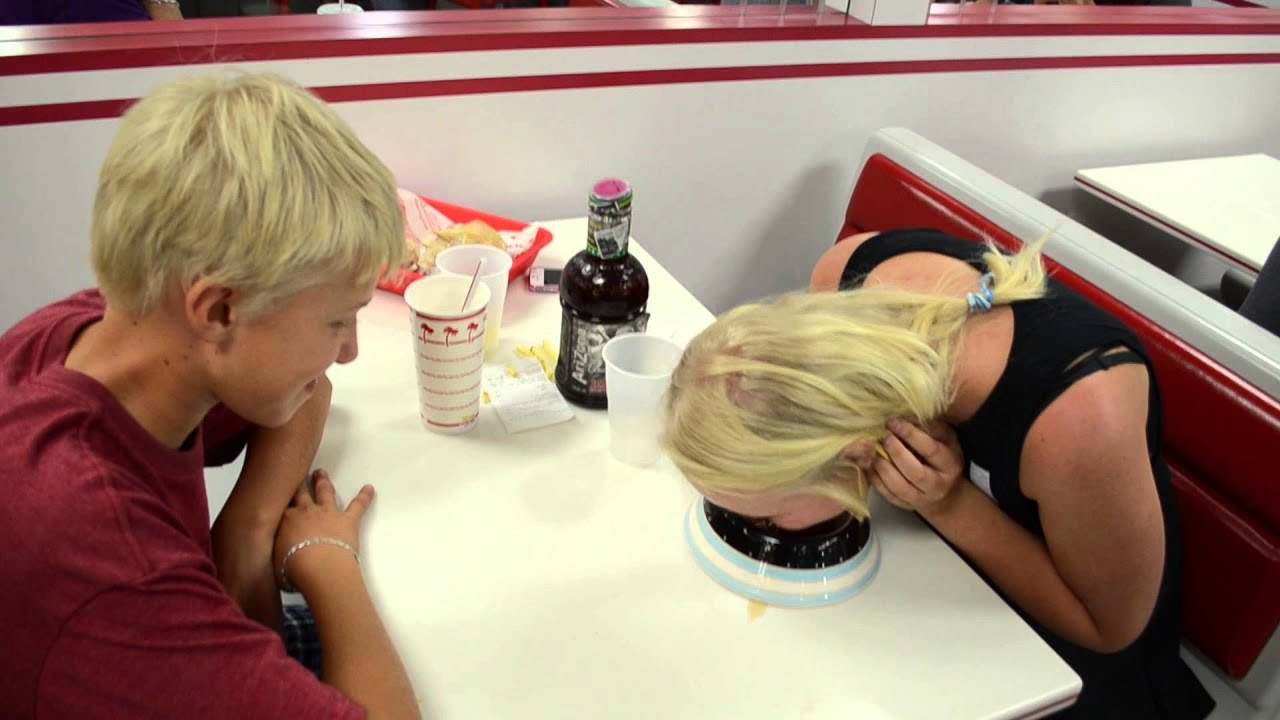 Blonde Girl Eats From Dog Bowl At In N Out Ob 1 Youtube