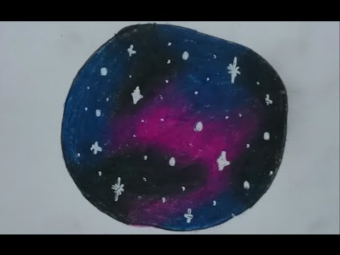 How To Draw A Galaxy With Colored Pencils Youtube