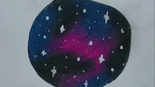 How to draw a galaxy with colored pencils